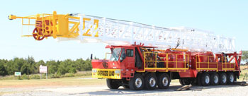 Service King Manufacturing SK 1000 Carrier Mounted Mobile Well service rig