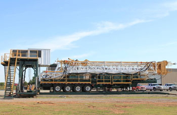 Service King Manufacturing SK 1100 Trailer Mounted Mobile Drilling rig with sub-base and operator doghouse