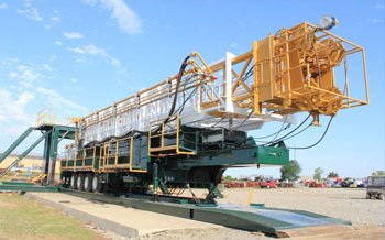 Service King Manufacturing SK 1100 Trailer Mounted Mobile Drilling rig