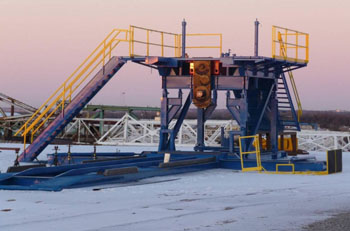 Service King Manufacturing Substructure. Built for our rigs or will custom build to suit your needs.